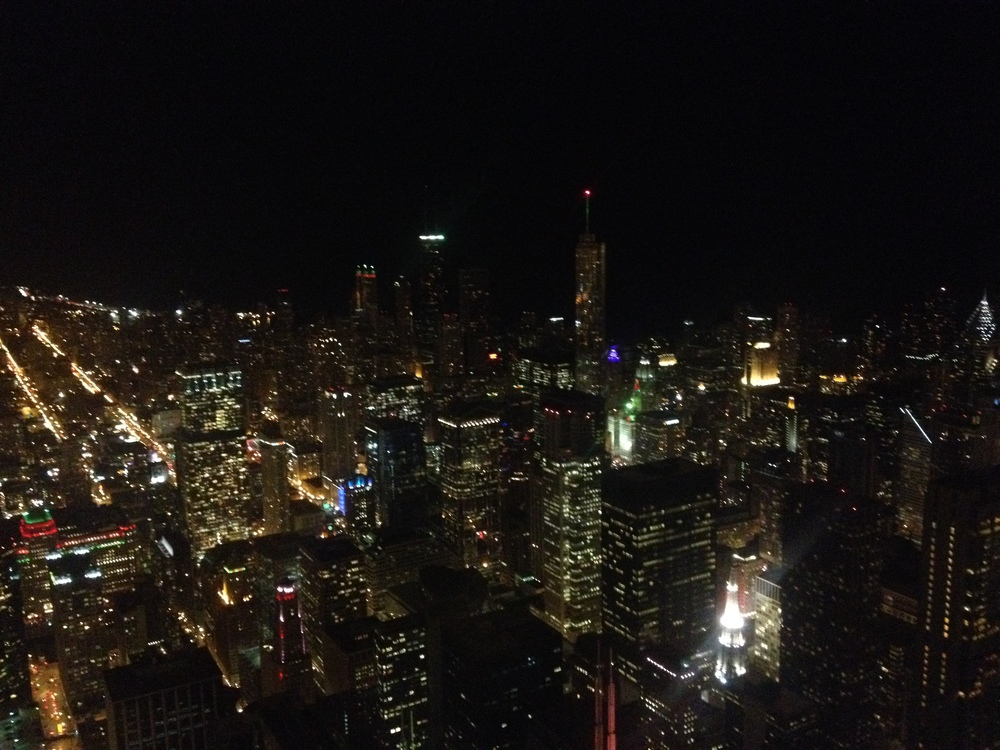 View of downtown Chicago from 99th floor.