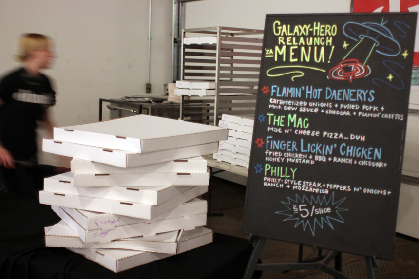The amazing Dimo's Pizza menu!