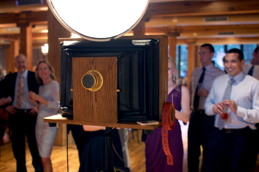 Fotio photo booth setup in the 1st Floor event space at Bridgeport Art Center.