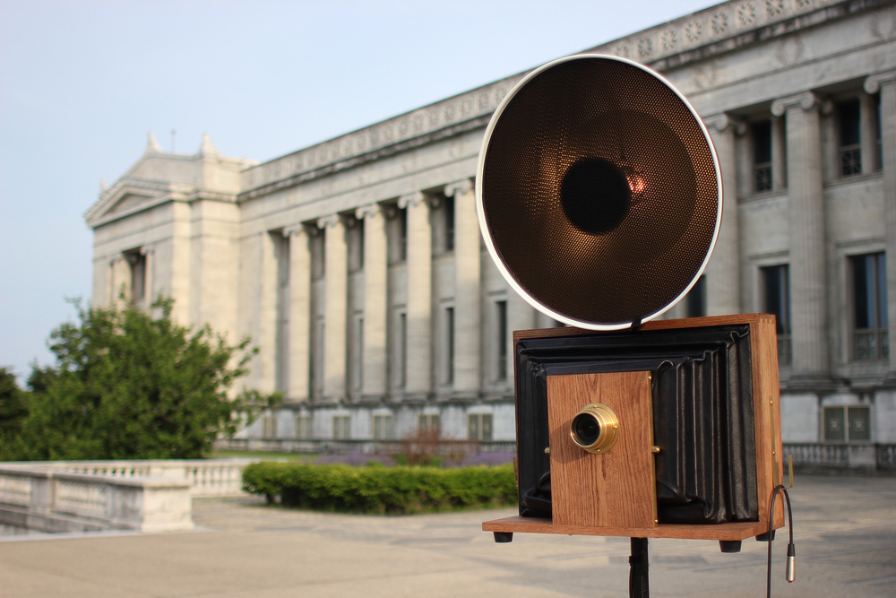 Check out one of our old-time Fotio photo booth cameras on the north terrace at the Field Museum of Chicago.