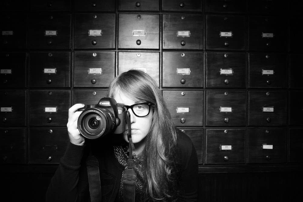 Our photo technician Rachel Smith testing out the Fotio camera at Untitled Chicago!