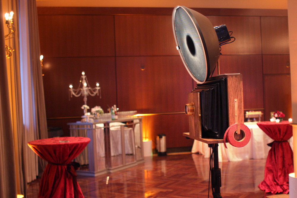 Fotio Photo Booth wedding setup in Ruggles Hall at the Newberry Library Chicago.