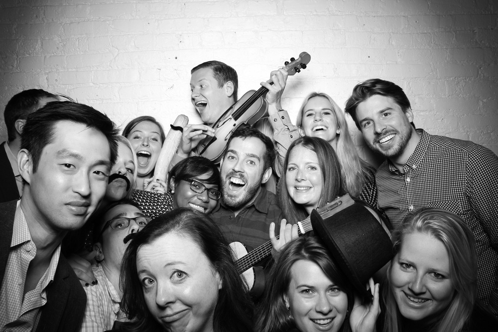 Fun and crazy holiday party photo booth at Moonlight Studios in Chicago's west loop!