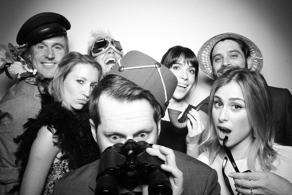 Company group photo booth shot at Le Colonial!