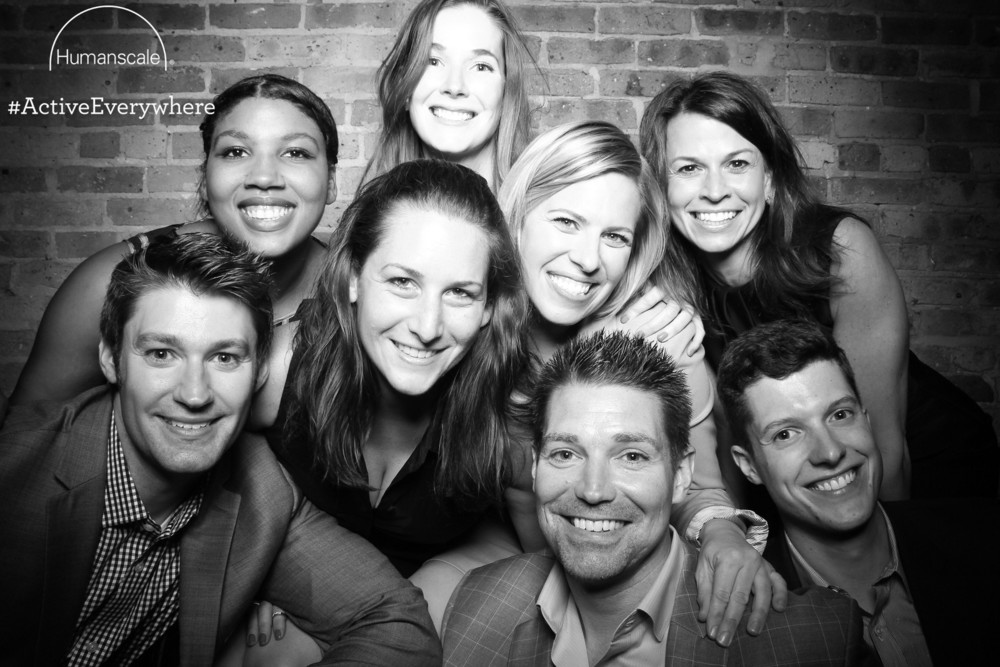 Fun group photo booth shot at Moe's Cantina private event!
