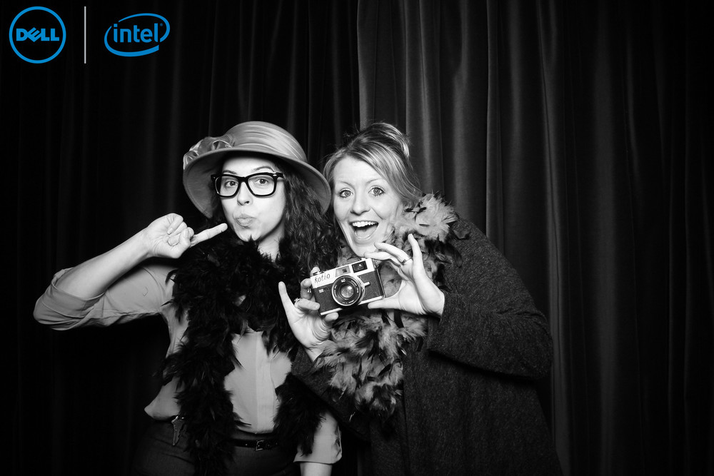 Molly Nienhaus from Carnivale takes a photo booth picture!