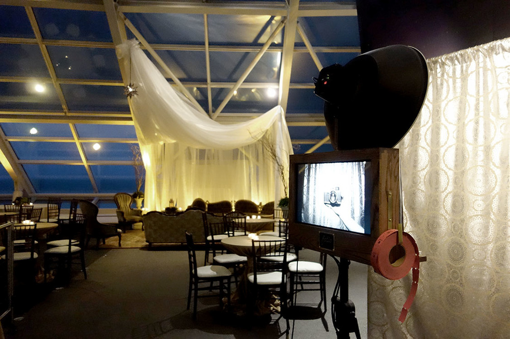 Atmosphere Events Group did an amazing job with the decor at the Adler Planetarium! Our open air styled vintage photo booth fit in perfectly.