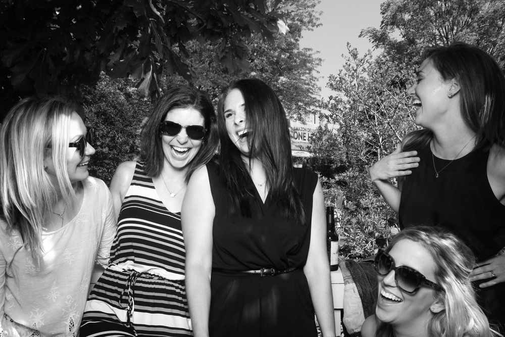 Love this candid outdoor photo booth shot at Galleria Marchetti!