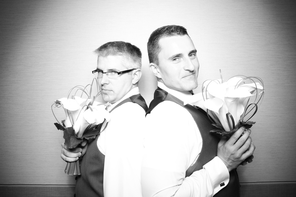 Dan and Scott having the time of their lives! Photo booth pictures taken at the Renaissance Schaumburg Hotel and Convention Center.