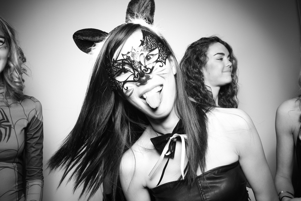 Fun Masquerade Photo booth picture taken at Moonlight Studios!
