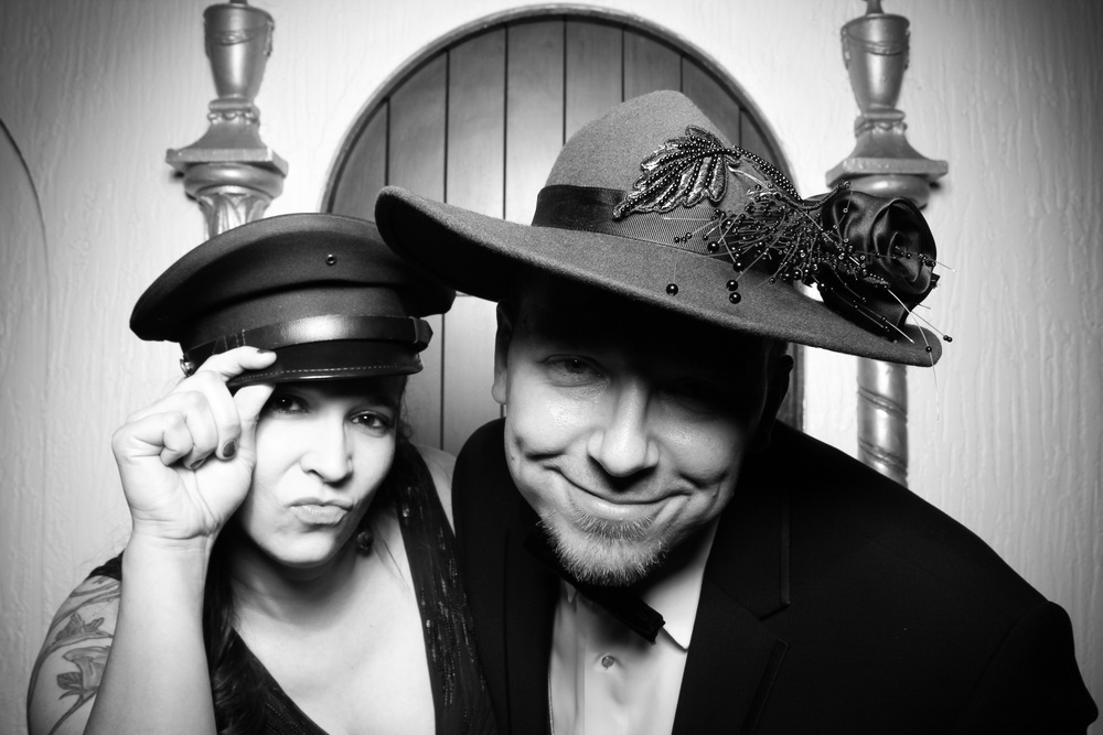 This photo booth picture was taken at Hotel Baker in St. Charles, IL