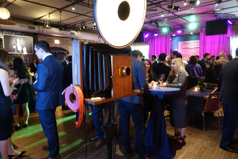 A Fotio photo booth setup in The Concert Venue event space at City Winery Chicago.