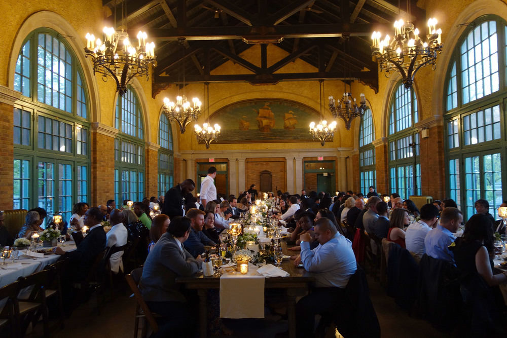 Everyone dines in gorgeous Columbus Park Refectory dining hall.