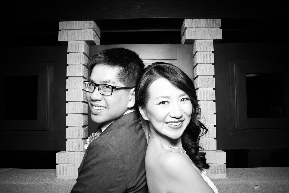 Bride and Groom are looking extra cute in this photo at the Emil Bach House! Cheers to the happy couple!