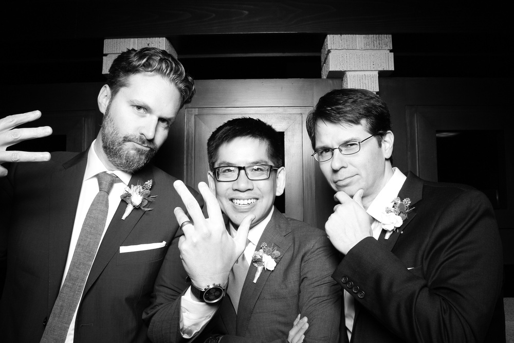 Groom posing with his best men!