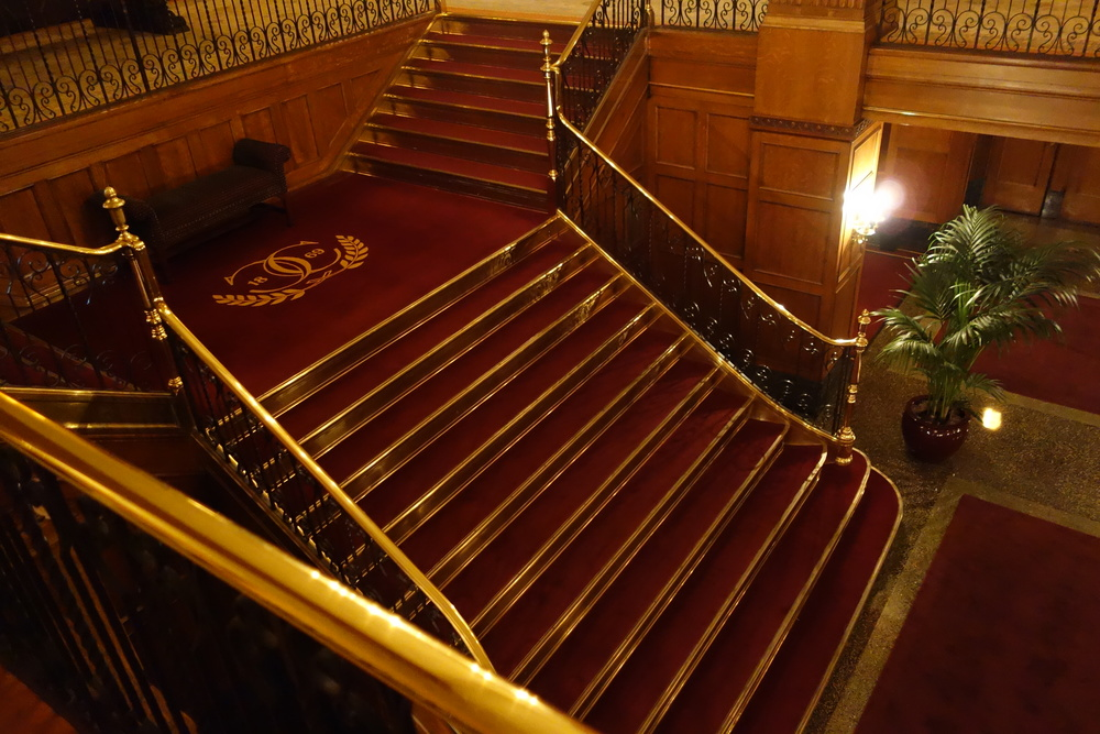 Main stairway with the Chicago Club logo!