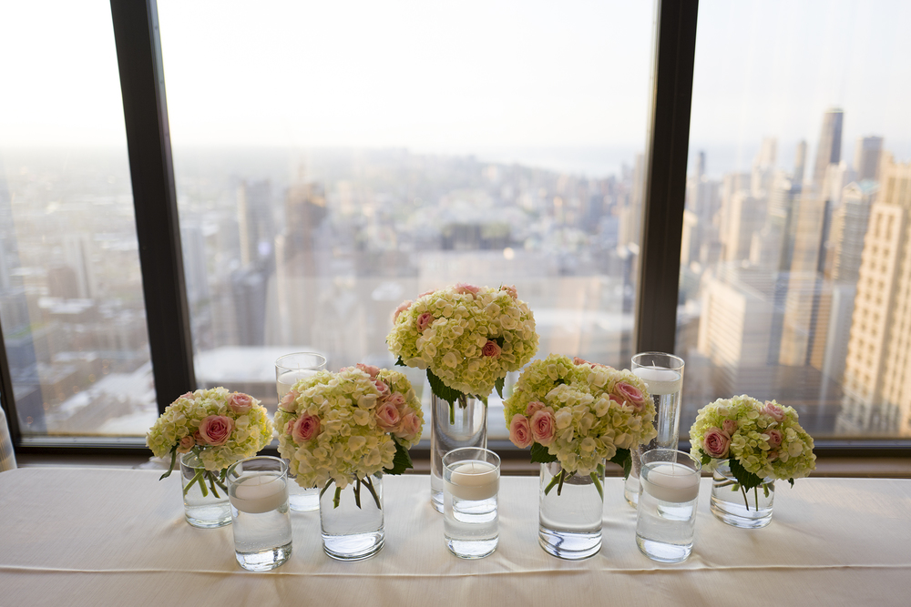 Beautiful views and beautiful flowers at the Metropolitan Club.