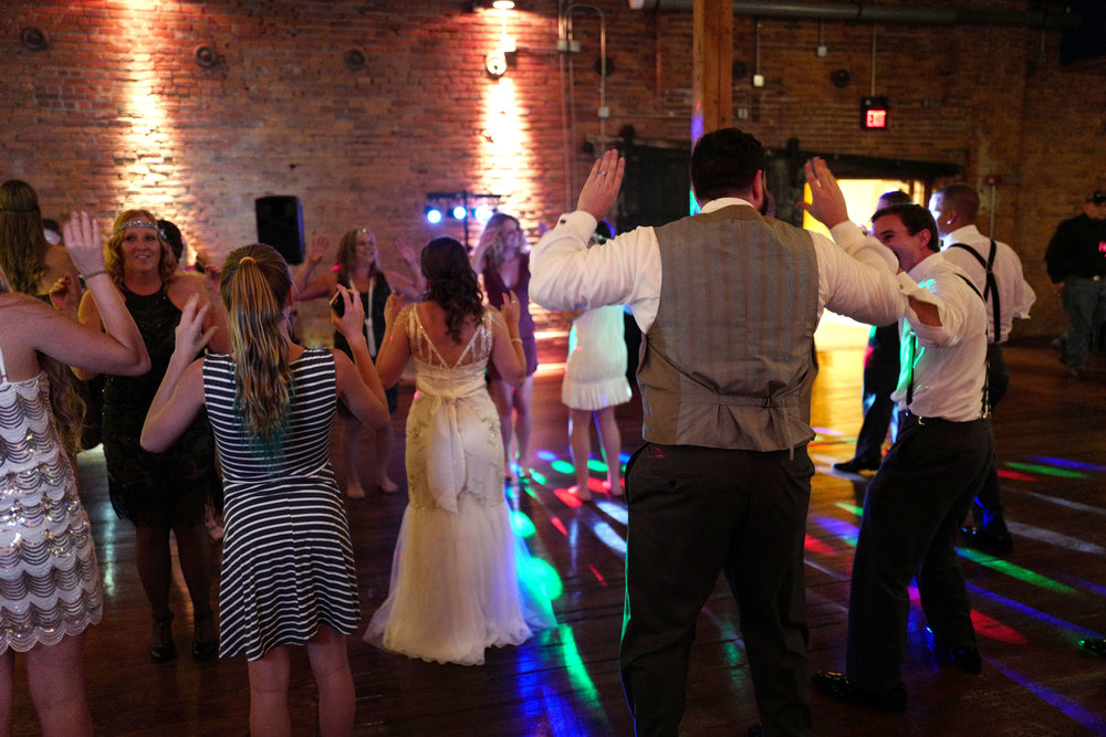 Guests dancing in the Warehouse Room!