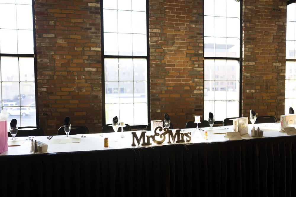 The head table at the Waterhouse in Peoria!