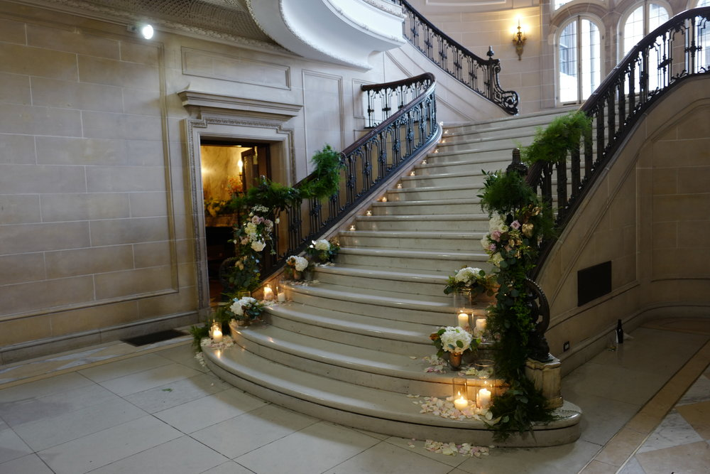 The elegant stairway in the Armour House!