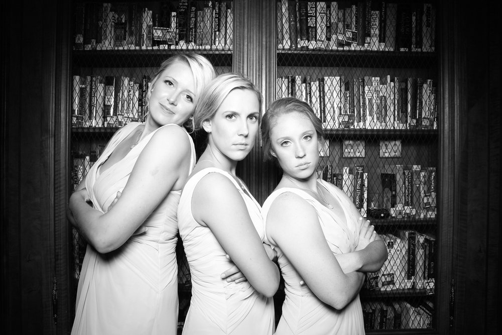 The Bridesmaids pose for a serious shot.