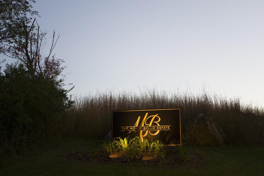 Monte Bello Estate Sign!