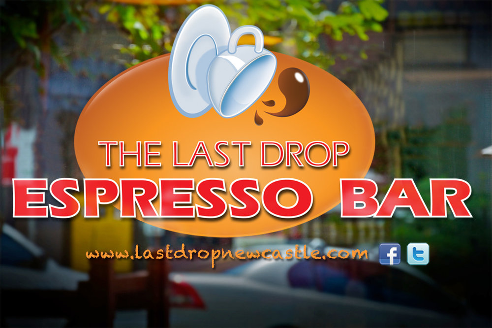 Redesign of Cafe logo utilising existing `Espresso Bar' text already present.