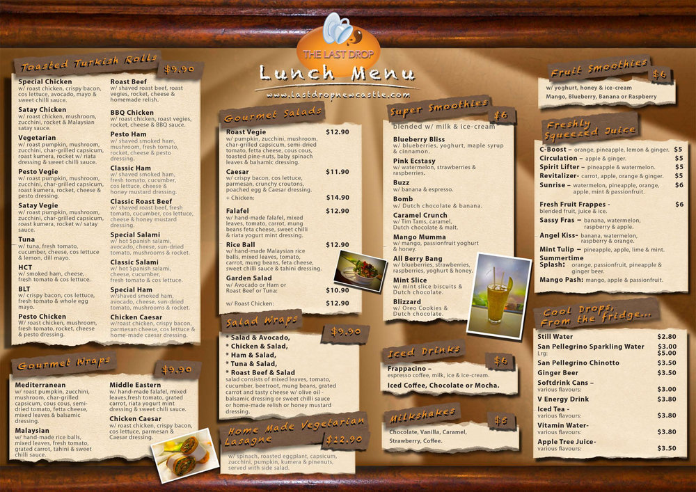 Cafe Menu pg 1