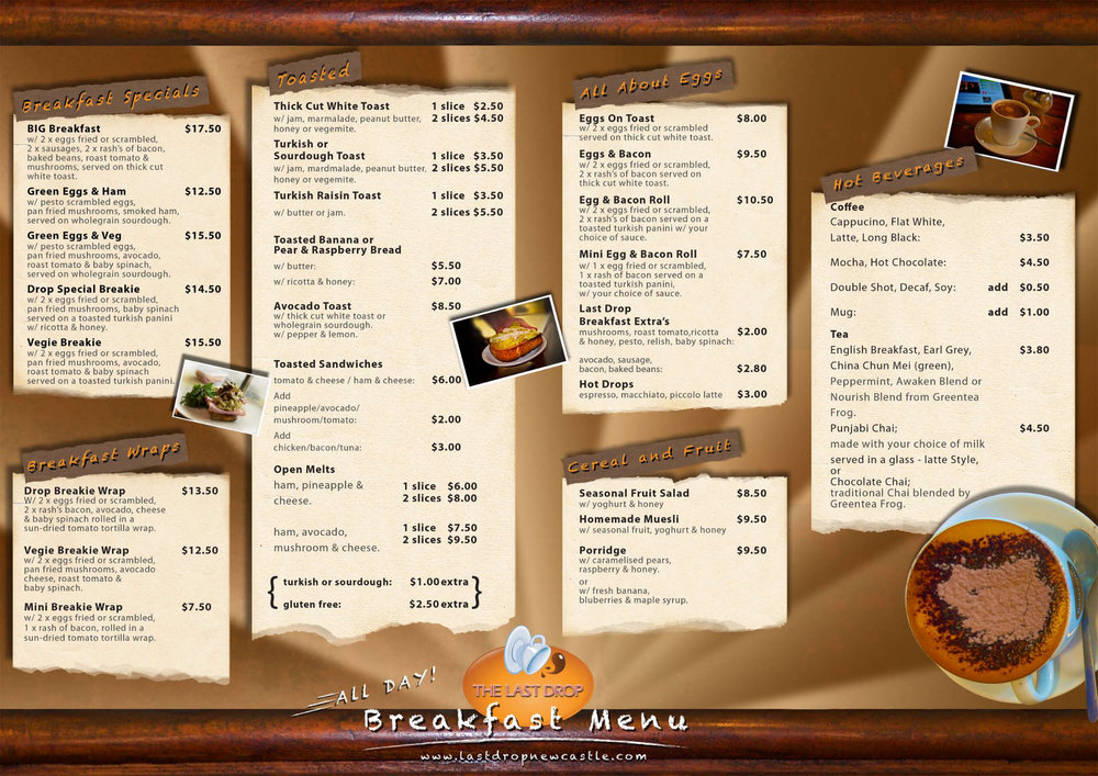 Cafe Menu pg 2
