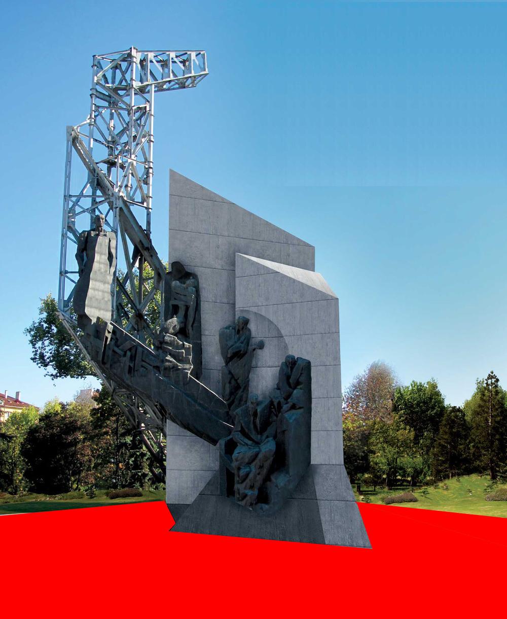 Виждането на проф. Старчев за консервация на паметника + тема за конкурс и дебат в червено.