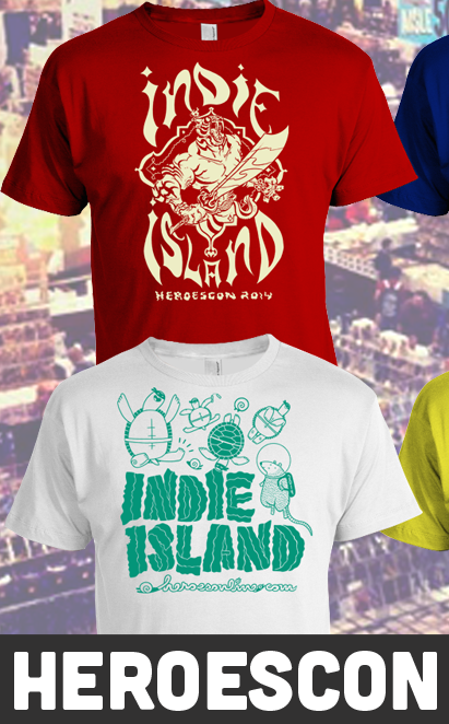 Indie Island shirts by Aaron Conley and Maris Wicks