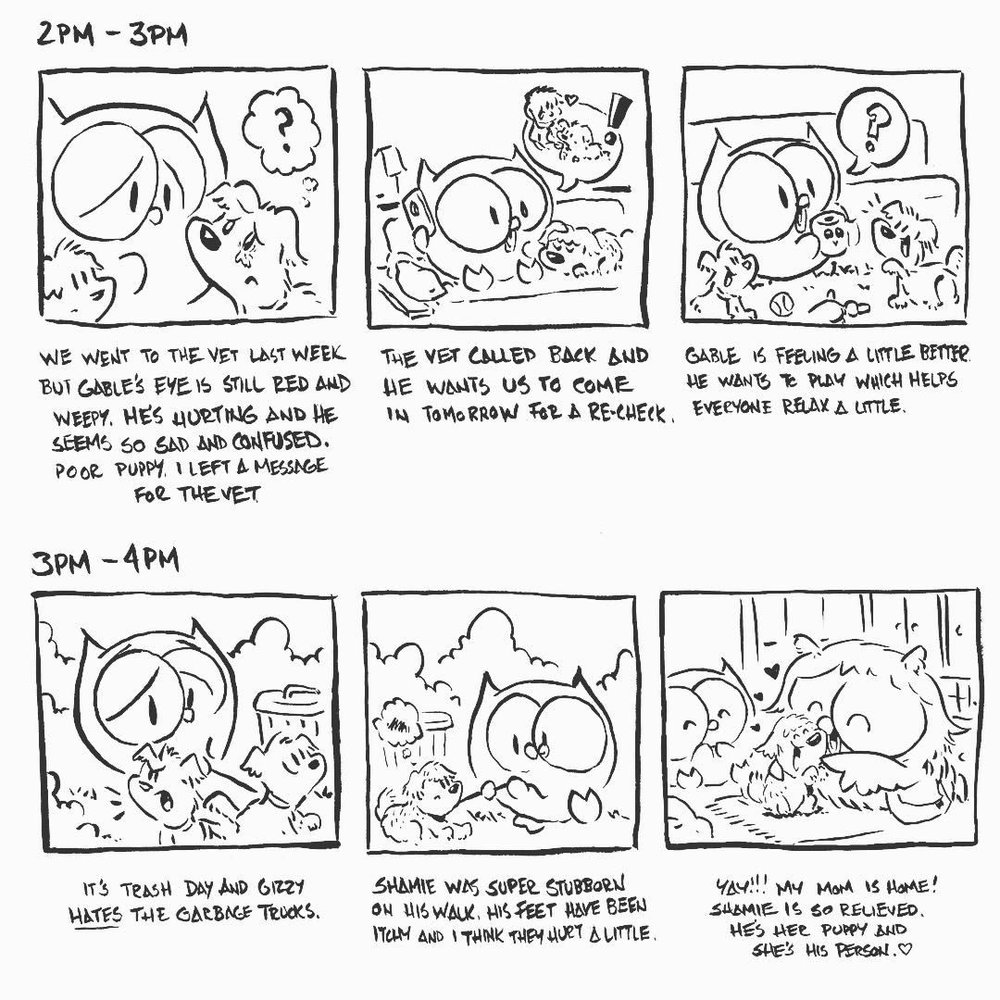 Hourly comic strip by Andy Runton