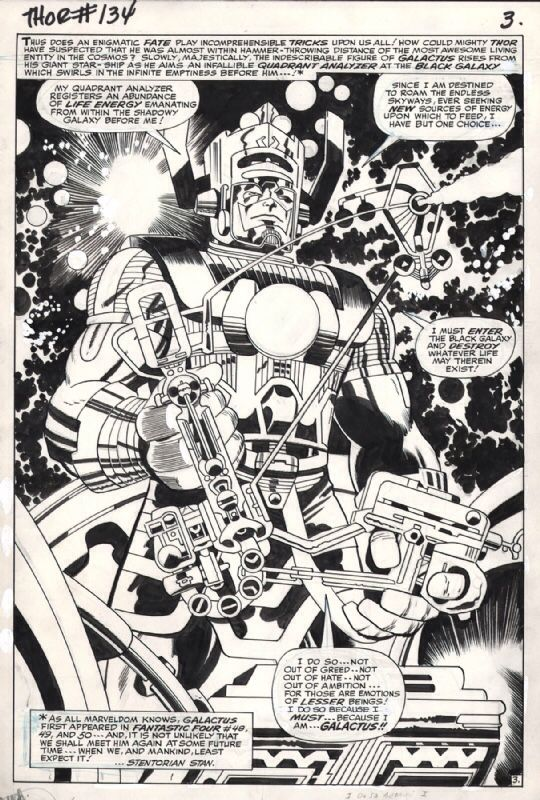 Figure 1: Example of Kirby Krackle (a.k.a. Kirby Dots) from Thor #134.