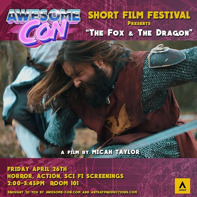 I'm heading up to DC on Friday to attend the #awesomecondc film festival to support three films I helped with including #thefoxandthedragon on which I did my first ever complete sound design. . . . #filmfest #filmfestival #foxanddragon #awesomefilm