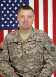 U.S. Army Sergeant Jeremiah Wittman, 26, of Darby, Montana, assigned to the 1st Battalion, 12th Infantry Regiment, 4th Brigade Combat Team, 4th Infantry Division, based out of Fort Carson, Colorado, was killed on February 13, 2010, when insurgents attacked his unit with a roadside bomb in Zhari province, Afghanistan. He is survived by his daughters Miah and Ariauna, wife Karyn, siblings Robert H., Charity, Jenell, and Natasha, father Robert, and mother Cynthia Church.