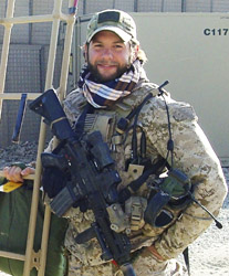 U.S. Navy Special Warfare Operator Chief Petty Officer (SEAL) Brian R. Bill, 31, of Stamford, Connecticut, assigned to an East Coast-based Naval Special Warfare unit, died on August 6, 2011, of wounds suffered when his unit's helicopter crashed in Wardak province, Afghanistan. He is survived by his mother Patricia Parry and her husband Dr. Michael Parry, his father Scott, and siblings Christian, Amy, Andrea, Kerry, Tessa, and Morgan.