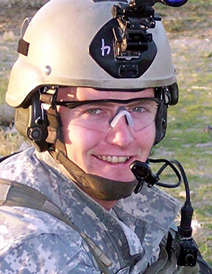 U.S. Army Sergeant Dale G. Brehm, 23, of Turlock, California, assigned to the 2nd Battalion, 75th Ranger Regiment, based in Fort Lewis, Washington, died on March 18, 2006, when he came under small arms fire from enemy forces during combat operations in Ar Ramadi, Iraq. He is survived by his wife Raini, father William, stepmother Linda, and mother Laura Williams.