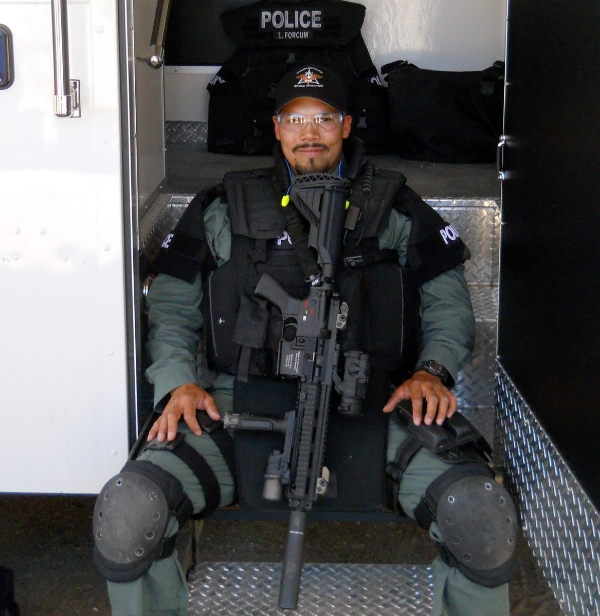 Narcotics Detective and Special Assignment Unit Operator Carlos Ledesma, 34, of the Chandler Police Department, Chandler, Arizona, was shot and killed by drug dealers on July 28, 2010, during an undercover operation in Phoenix, Arizona. He is survived by his wife Sherry and sons Luciano and Elijo.