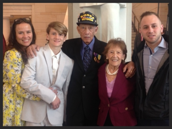 "A special Thank You for Your Service and Congratulations to Gidget's Father. She let us know that he received a special honor this week.  ""I wanted to share this with you .. My dad was honored in Washington today with a Congressional Medal of Honor for his services in the Korean War..."""