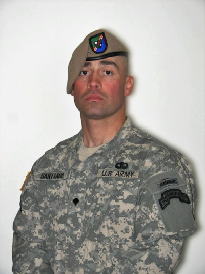 U.S. Army Sergeant Anibal Santiago, 37, of Belvidere, Illinois, assigned to the 3rd Battalion, 75th Ranger Regiment, stationed in Fort Benning, Georgia, died on July, 18, 2010, in Bagram, Afghanistan. He is survived by his wife, Mandy, sons Hannibal, Desmond, and Darian, and parents Anibal and Maria.