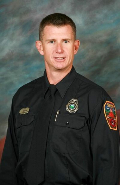 Captain Jeffrey Bowen, of Alexander, North Carolina, died July 28, 2011. The 37-year-old was a 13-year veteran of the Asheville Fire Department, assigned to Rescue 3. Bowen was fatally injured while fighting a four-alarm fire in a medical building. He is survived by his wife, Stacey; son, Charlie Ray; and daughters, Robin Parker and Sarah.