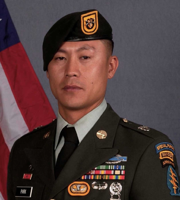 U.S. Army Sergeant First Class Dae Han Park, 36, of Watertown, Connecticut, assigned to the 3rd Battalion, 1st Special Forces Group (Airborne), based out of Joint Base Lewis-McChord, Washington, died on March 12, 2011 in Wardak province, Afghanistan, from wounds suffered when enemy forces attacked his unit with an improvised explosive device. He is survived by his wife, Mi Kyong, daughters Niya and Sadie, parents Joseph and Bonnie, and siblings Katie and Saejin.