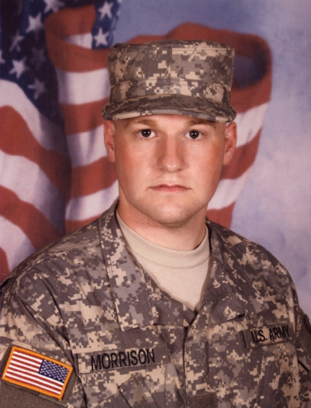 """U.S. Army Specialist Scott Morrison, 23, of Blue Ash, OH, assigned to 584th Mobility Augmentation Company, 20th Engineer Battalion, 36th Engineer Brigade, based out of Fort Hood, TX, died on September 26, 2010, from injuries suffered on September 25 when insurgents in Kandahar, Afghanistan attacked his vehicle with an improvised explosive device.  He is survived by his father Donald, mother Susan, brother Gary, and sister Katie.  The """"Morrison"""" Hero WOD was first posted on the CrossFit Main Site as the workout of the day for Monday, July 4, 2011 (110704)."""