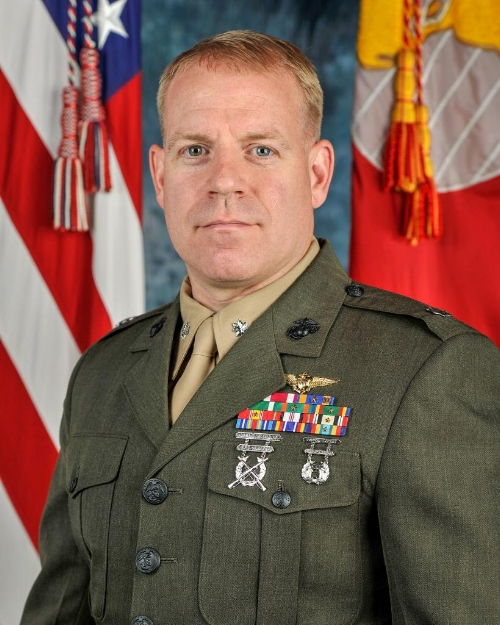 """U.S. Marine Lt. Col. Christopher """"Otis"""" Raible, 40, of North Huntington, Pennsylvania, was killed by insurgents during an attack on Camp Bastion, Afghanistan, on Sept. 14, 2012. Raible joined the Marines in 1995, served in Iraq and Afghanistan, and was the commanding officer of Marine Attack Squadron 211 out of Marine Corps Air Station in Yuma, Arizona.  Raible trained CrossFit with his wife, Donnella, and daughter Catherine. His favorite movements were deadlifts, squats, overhead presses and bench presses.  He is survived by his wife, Donnella; daughters, Catherine and Allison; and son, Brian."""