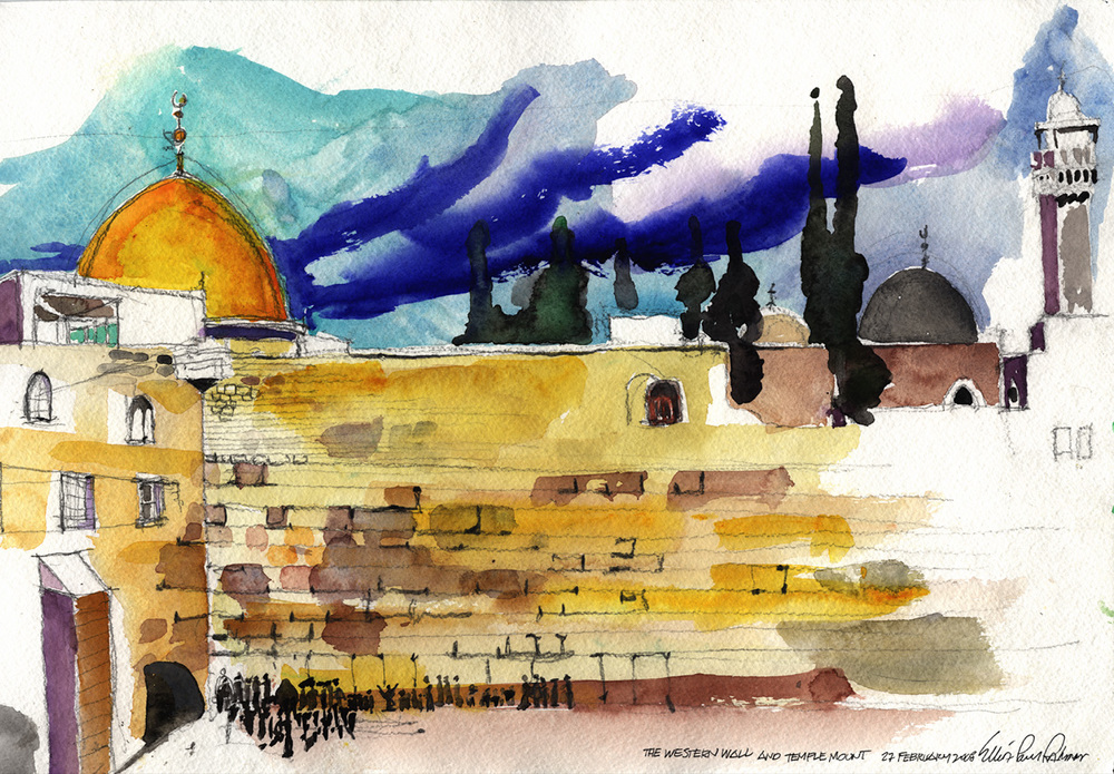 The Western Wall and Temple Mount