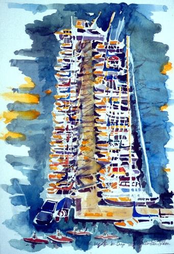 San Diego Marina from Hotel, San Diego Bay