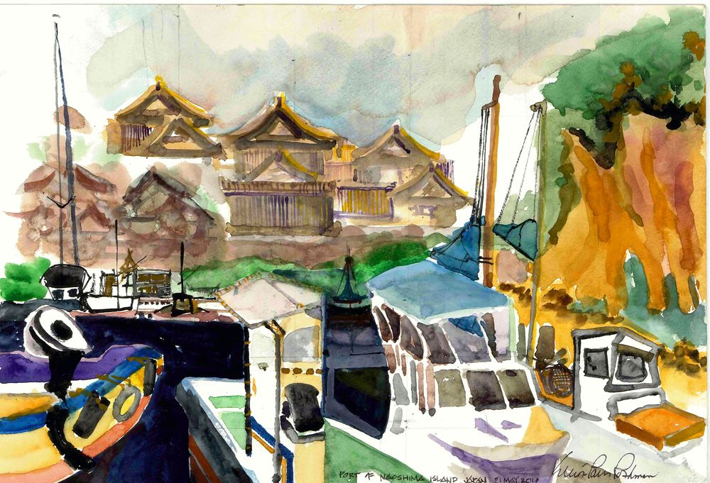 Port of Naoshima Island