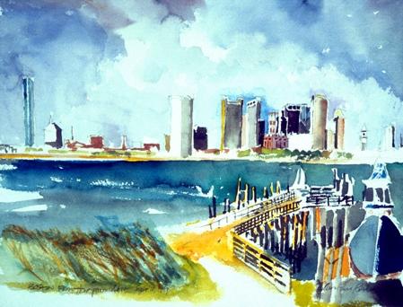 From Thompson Island Pier, Boston Harbor