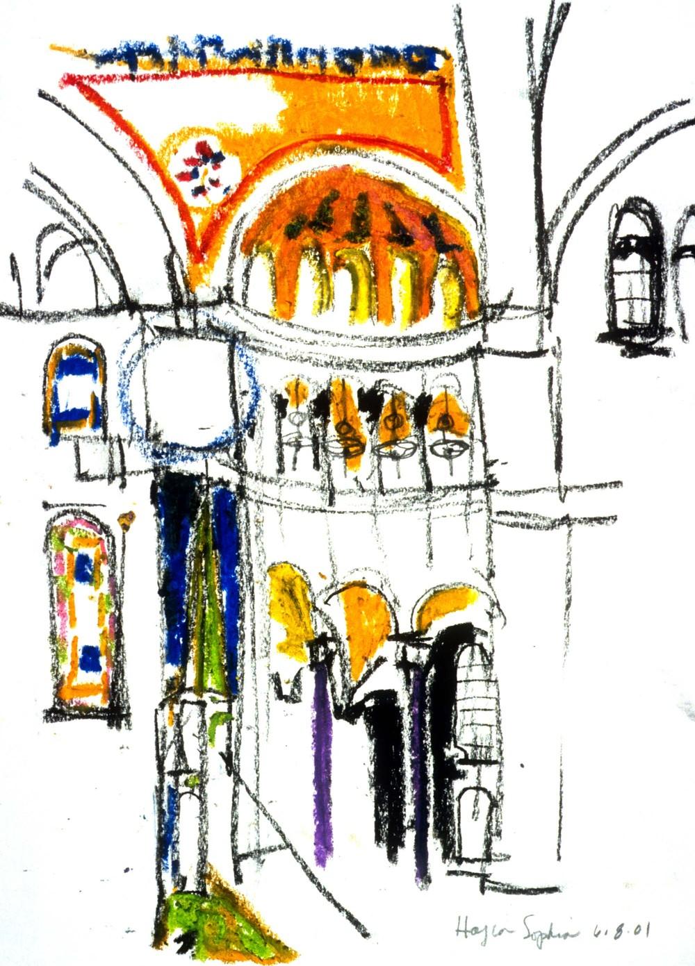 Hagia Sophia Interior Sketch
