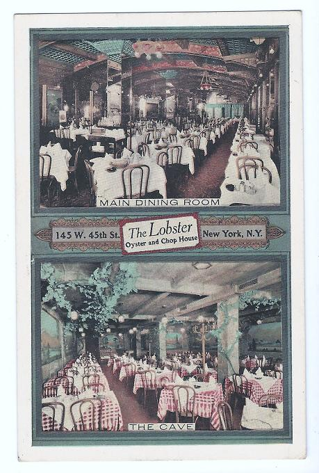 Postcard from The Lobster: Oyster and Chophouse. Founded in 1919